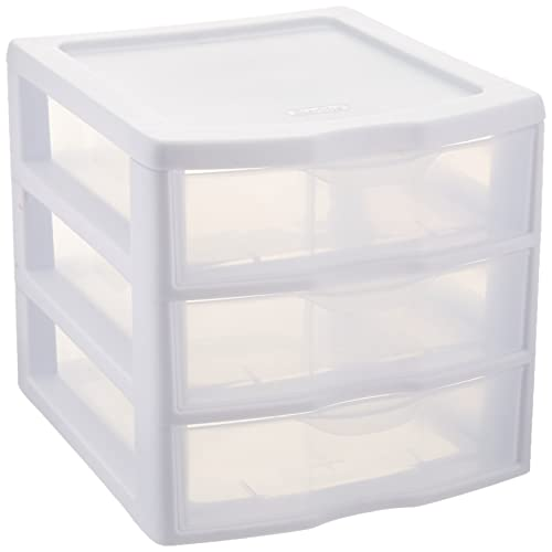plastic storage drawers. Sterilite ClearView 3 Storage Drawer Organizer Plastic Storage Drawers