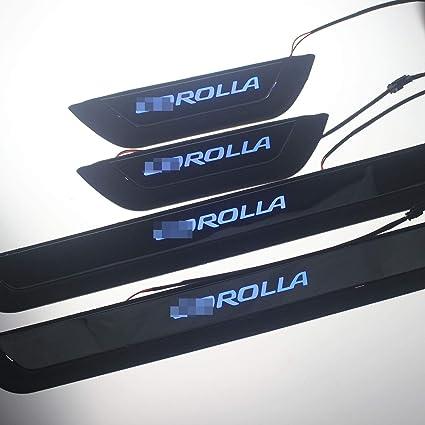 Genuine Toyota 2020 Corolla Door Sill Protectors//Guards w//Nameplate PT413-02200