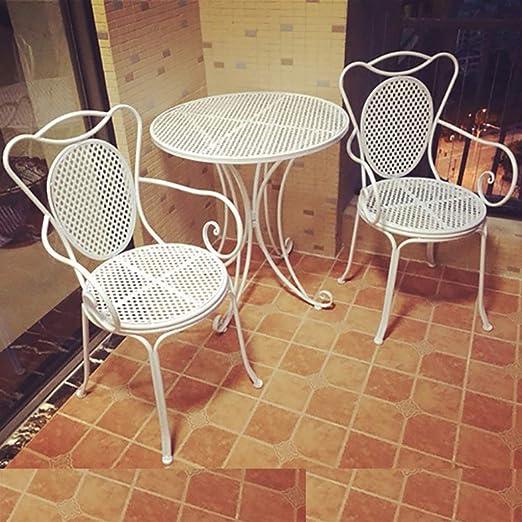 Du hui Mesa y sillas de Comedor de Hierro al Aire Libre, balcón ...