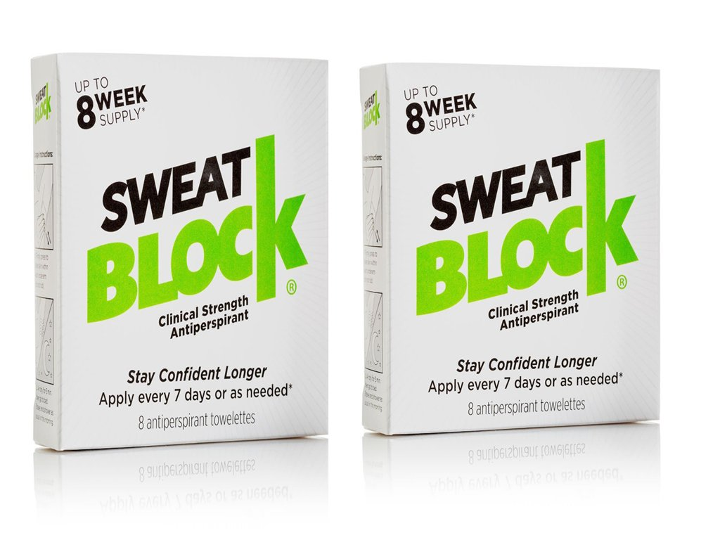 Sweat Block Clinical Strength Antiperspirant Up To 8 Weeks' Supply Pack Of 2 by Amazon