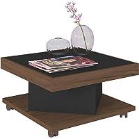 Artely Saara Coffee Table, Walnut/Black, 33.5 cm x 63 cm x 63 cm