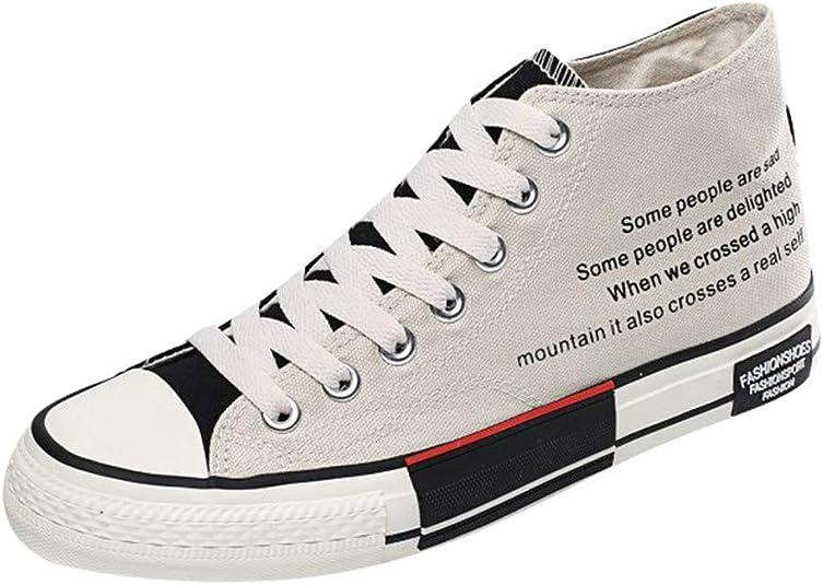 CLOOM Scarpe da Uomo, Espadrillas Uomo Sneaker a Collo Alto