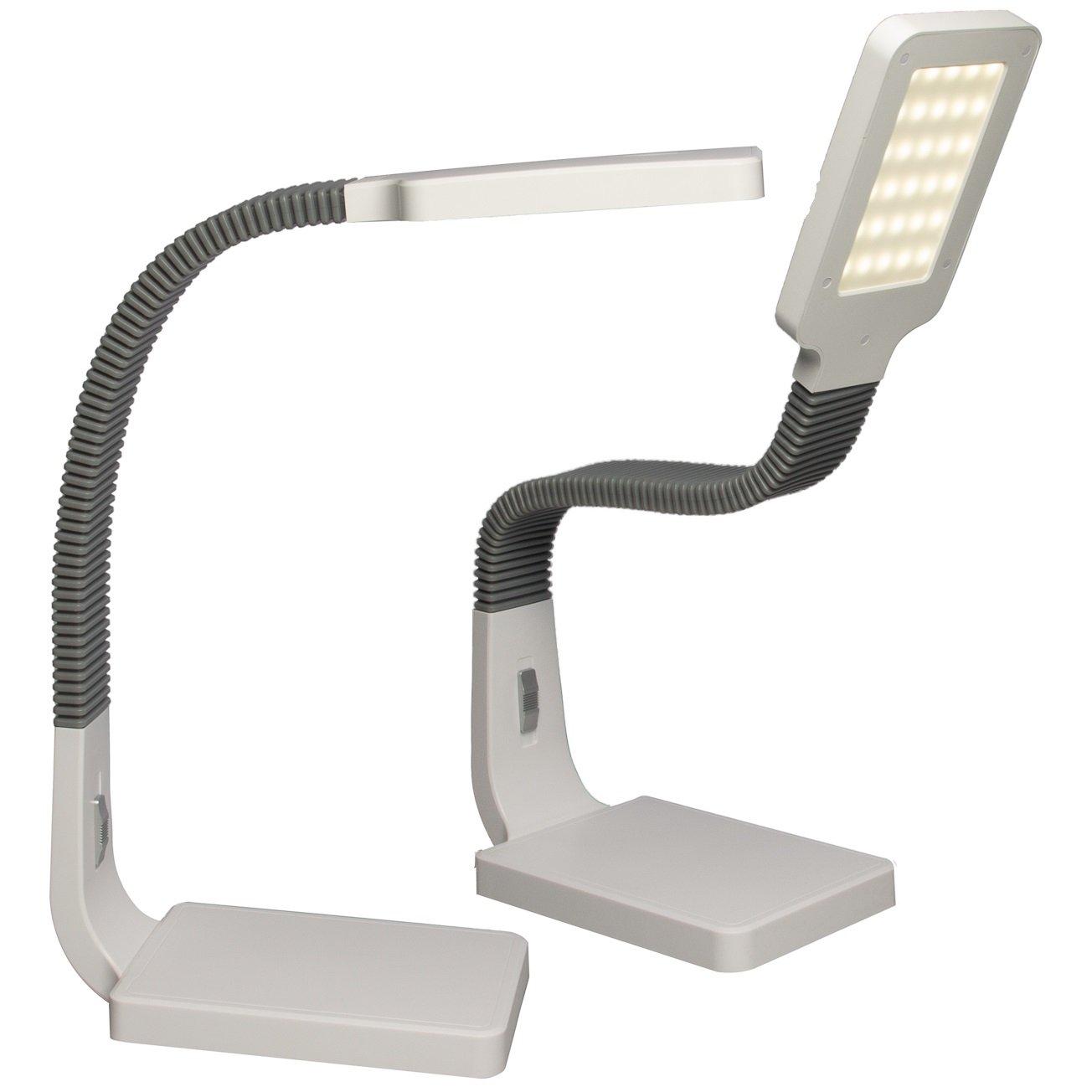 Tensor (2 Pack) 20140-000 Desk Lamp 15.5-Inch Natural Light Lamp Natural Daylight Desk Lamps Office LED Desk Lamp Adjustable Gooseneck with Slide Dimmer