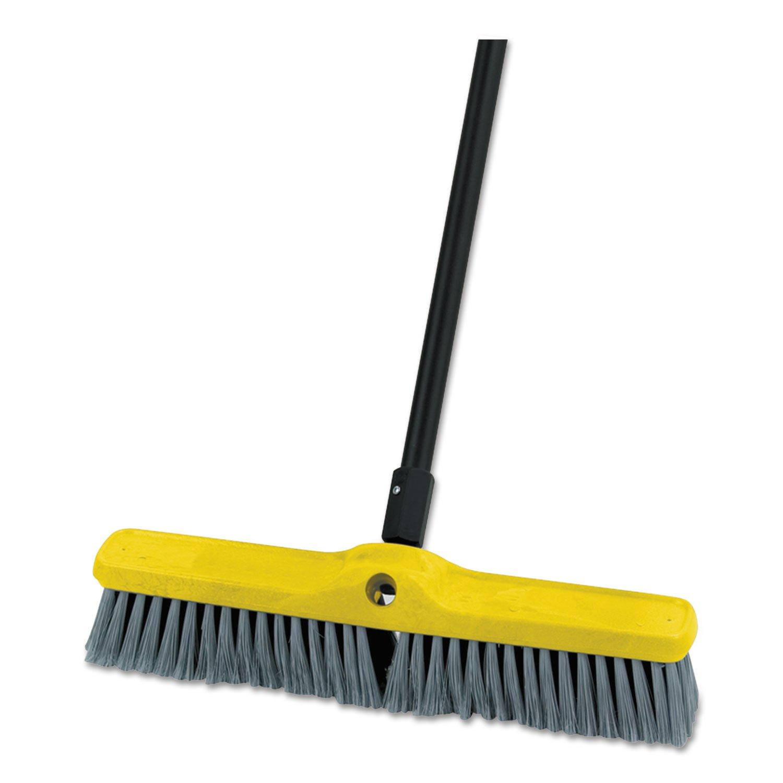 Rubbermaid Commercial Medium Floor Sweeper Head, 18'', Polypropylene/Tampico, 12/Carton