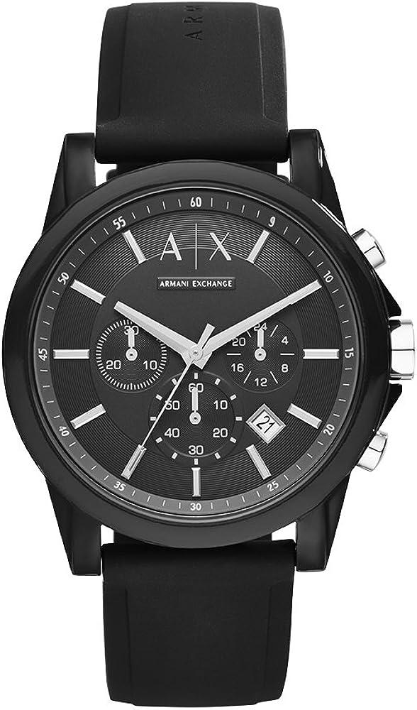 Armani Exchange Reloj para Unisex Adulto de Cuarzo con Correa en Silicona