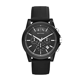 Image Unavailable. Image not available for. Color  Armani Exchange Men s AX1326  Black Silicone Watch e85c820351