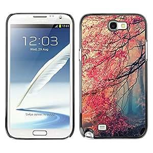 // PHONE CASE GIFT // Duro Estuche protector PC Cáscara Plástico Carcasa Funda Hard Protective Case for Samsung Note 2 N7100 / Feuille /