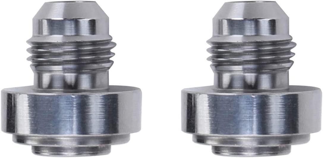 3//4-16 8AN Steel Male Weld On Bung Natural Thread Weldable Fuel Tank Fitting Pack of 2 AN8 JIC-8 AN