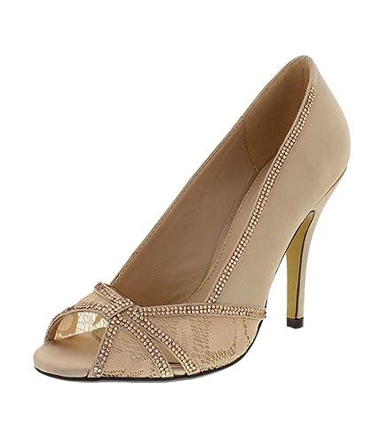 De Lina Chaussures Soirée Beigenude Femme Chaussure 8vn0OymNw