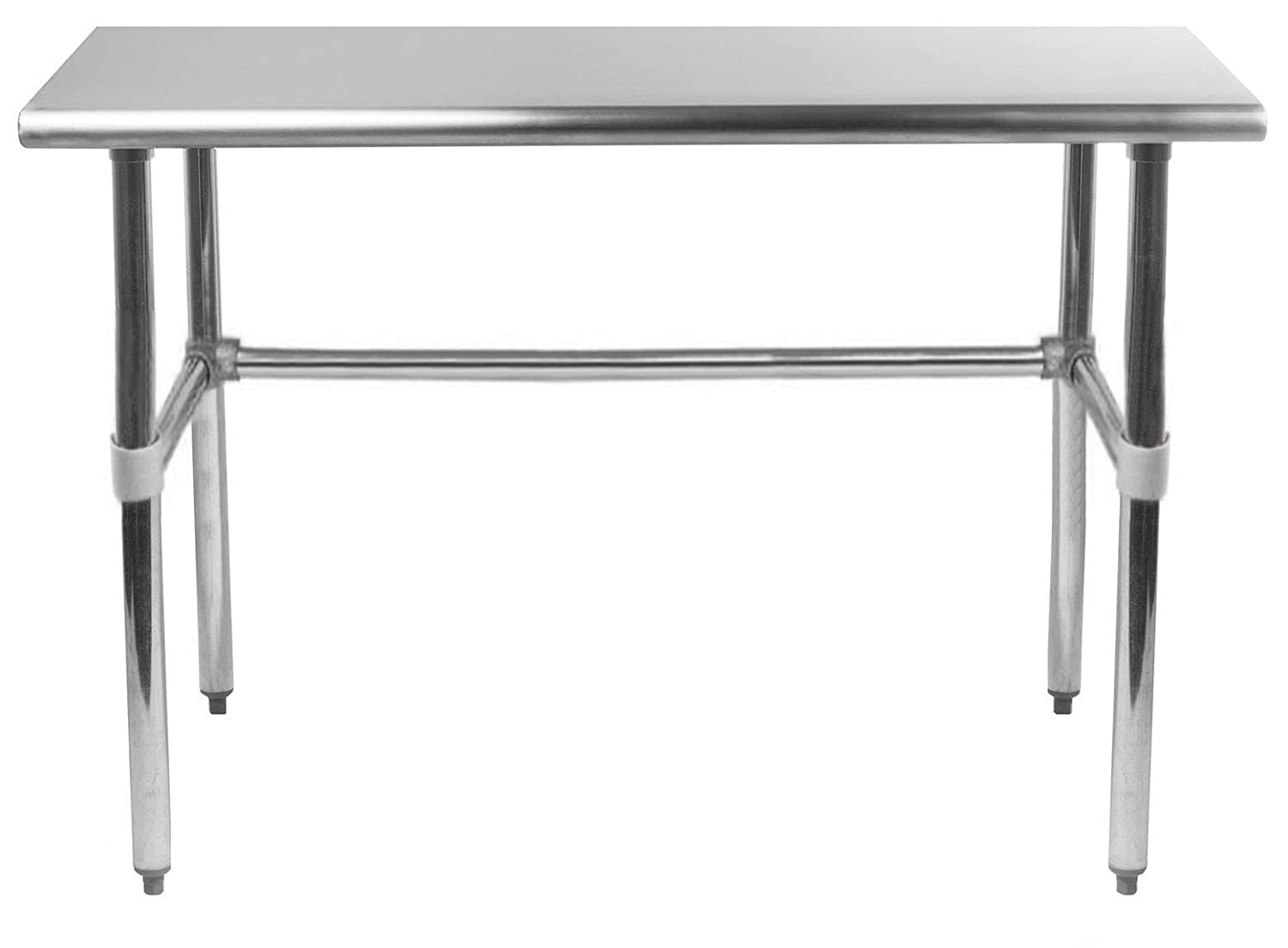 "AmGood Stainless Steel Work Table Open Base | Removable Crossbar | NSF Certified | Kitchen Island Food Prep | Laundry Garage Utility Bench (36"" Long x 24"" Deep)"