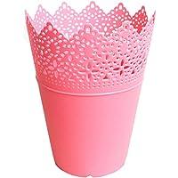 Laat Kunststoff-Blumenvase, Schreibtisch-Aufbewahrungskorb, Stifthalter, Make-up-Pinselhalter, Übertopf – Dekoration für Zuhause