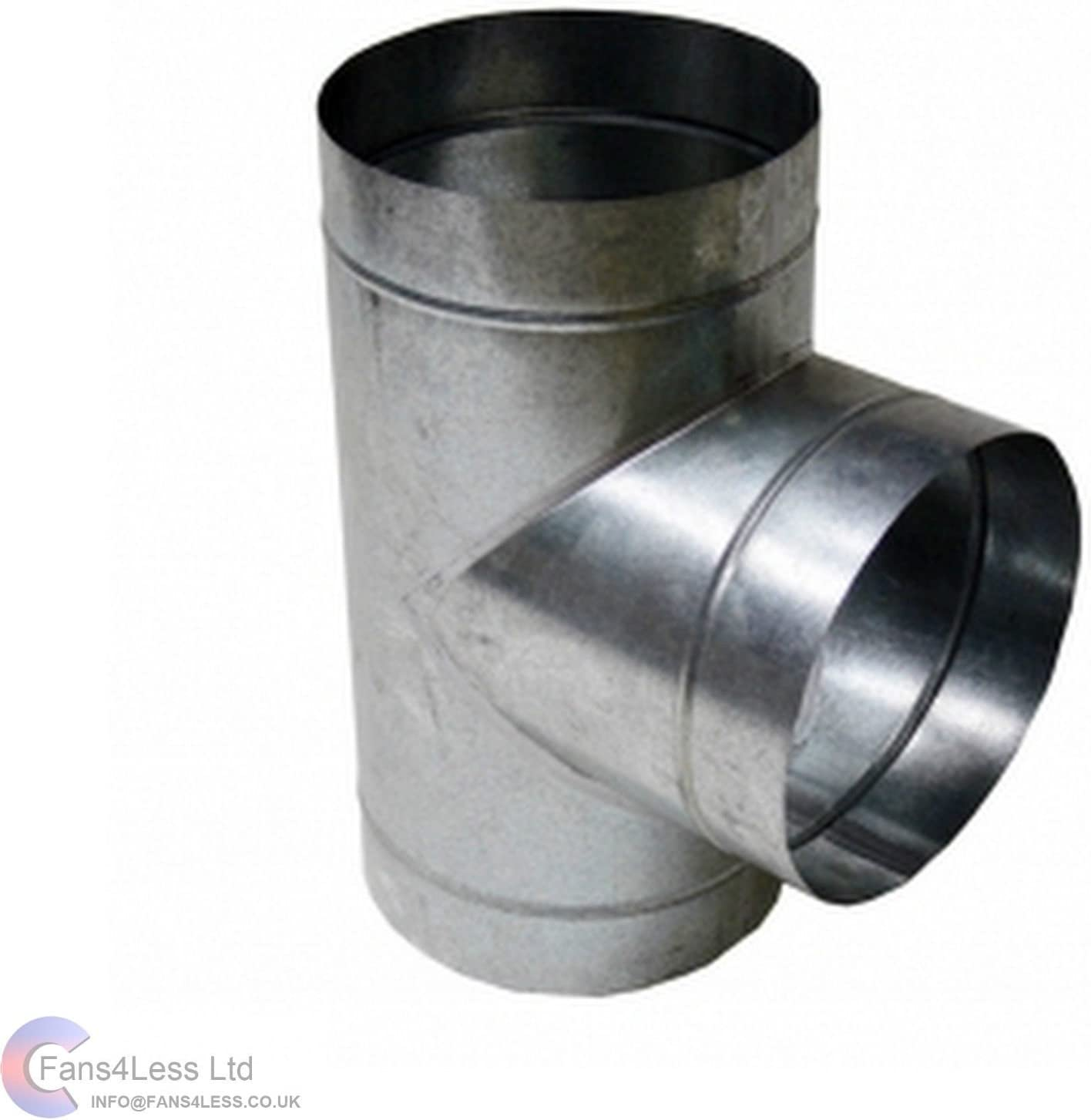 Metal Ducting T Piece Equal Connector For Extraction Fans Hydroponics