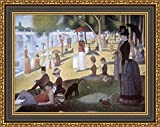 "• Beautifully framed and gallery-wrapped reproduction of Georges Seurat's ""Grande Jatte Sunday Afternoon on the Island"" on giclee canvas.  • We use top-notch HP canvas art printers. Each product is printed on high quality canvas fabric for a very..."