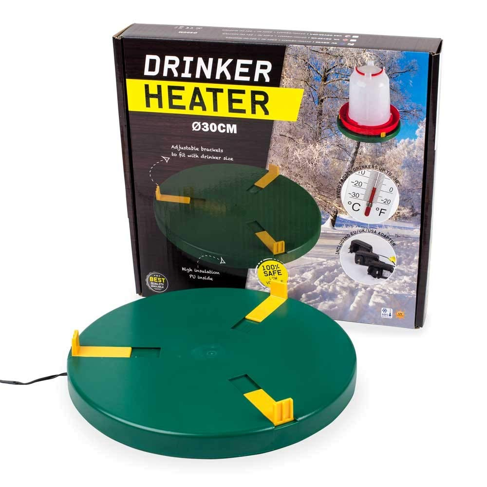 Poultry Drinker Heater Base for Chicken Waterer Founts | Deicer Heated Base by ChickenGuardian