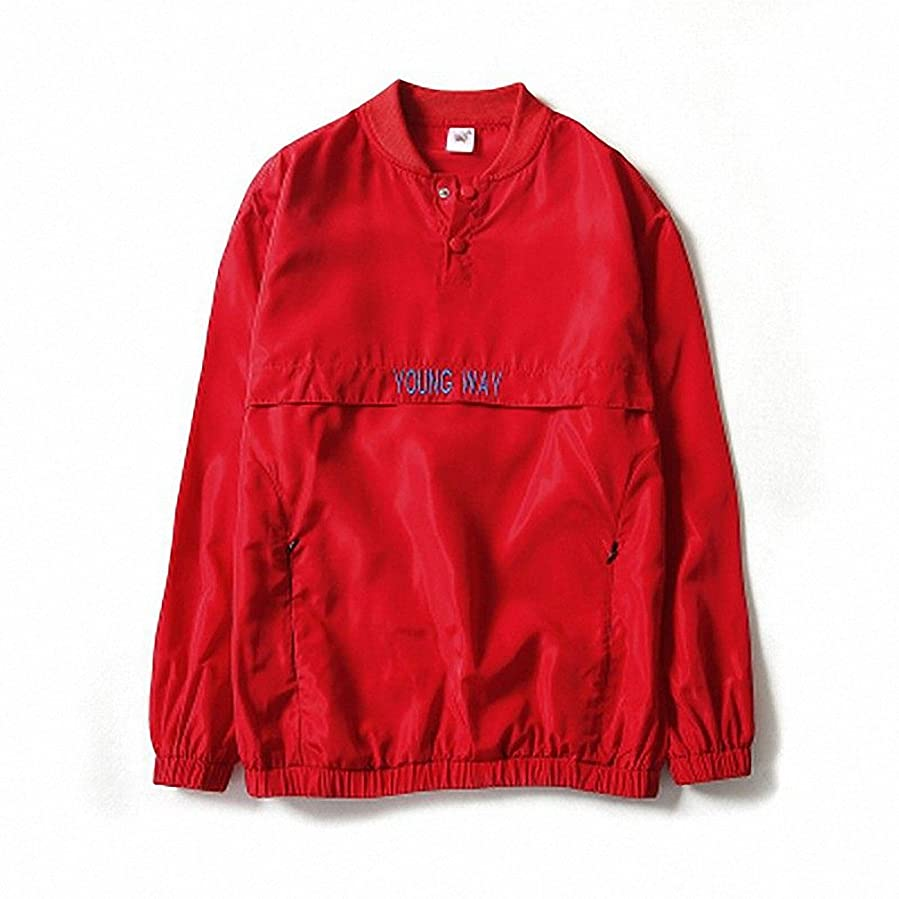 New reflective windbreaker Bomber Jacket Men Autumn Tide Brand off white Jacket chaqueta hombre NJK29 Sky Blue 4XL at Amazon Mens Clothing store:
