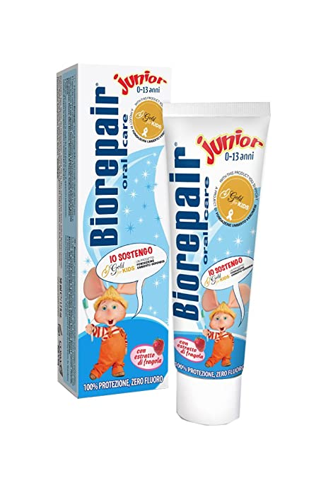20 opinioni per Biorepair- Dentifricio Junior, Con Estratto di Fragola, Zero Fluoro- 44 g 50 ml