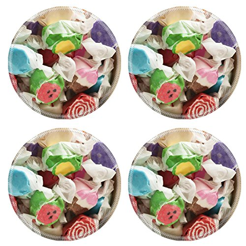 Liili Round Coasters Assorted Sweet Saltwater Taffy on a ...