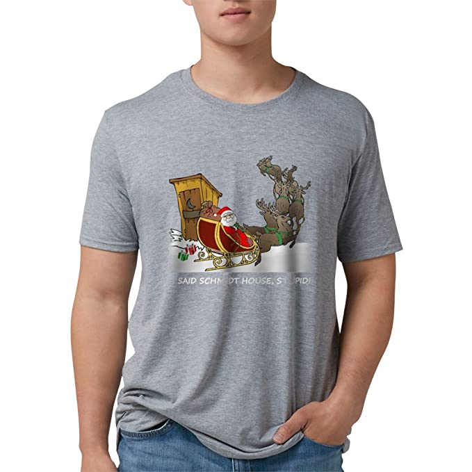 f09372e1fd3 Image Unavailable. Image not available for. Color  CafePress - Schmidt  House Funny Christmas T-Shirt - Mens ...