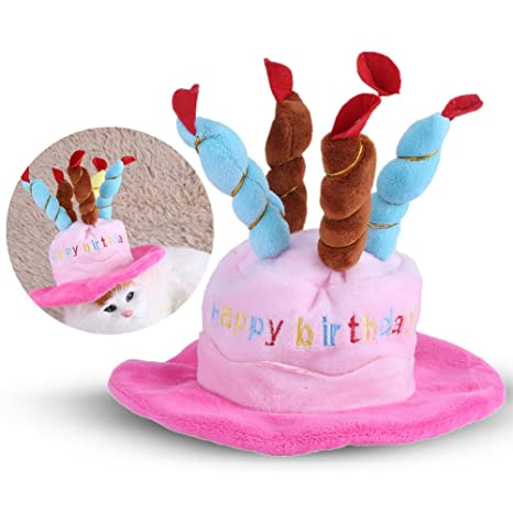 HEEPDD - Gorro de cumpleaños para Mascotas, diseño de Velas ...