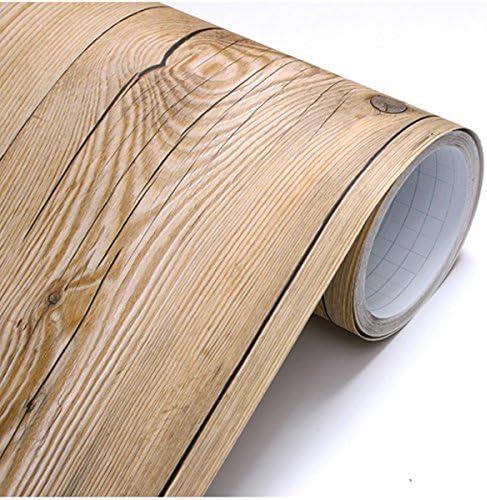 D/écollez et Appliquez Dosseret Panneau de bois Marron vintage Motif autocollant amovible papier peint 22345 M/étal Pieds X 250 Pieds