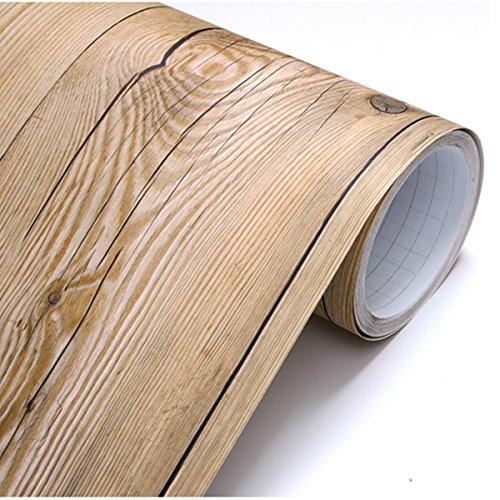 Vintage-Brown-Panel-de-madera-patrn-Contacto-Papel-autoadhesivo-peel-stick-Papel-pintado