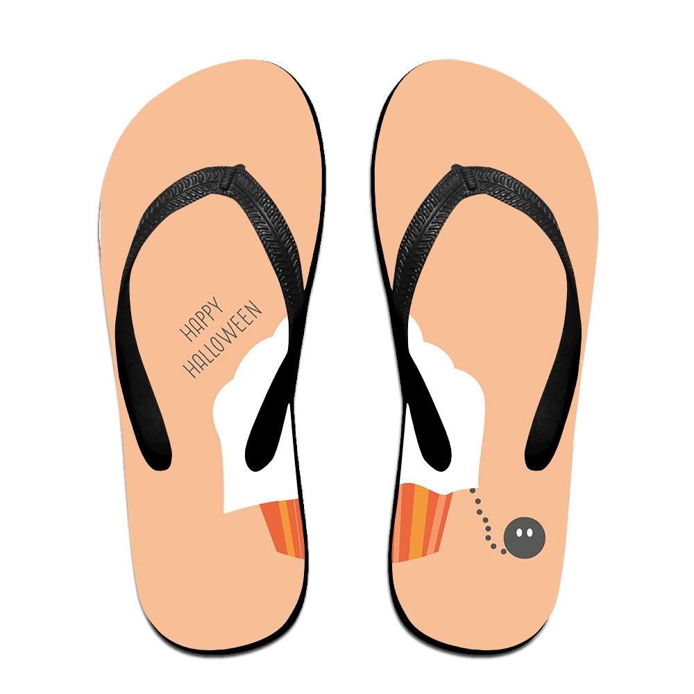 Couple Slipper Happy Halloween Icecream Print Flip Flops Chic Sandals Rubber Non-Slip Spa Thong Slippers