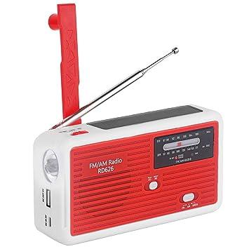 03f470e0cc Amazon.co.jp: 【緊急用・非常用】ラジオライト 手回し発電 太陽光充電 ...