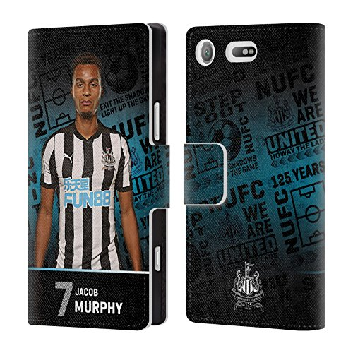 Compact Murphy Wallet (Official Newcastle United FC NUFC Jacob Murphy 2017/18 First Team 2 Leather Book Wallet Case Cover For Sony Xperia XZ1 Compact)