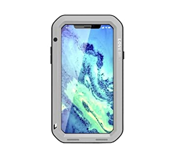 58d990f1b2 Amazon | iphone X iPhone XS ケース 軍用 耐衝撃 防水 防塵 金属/メタル ...