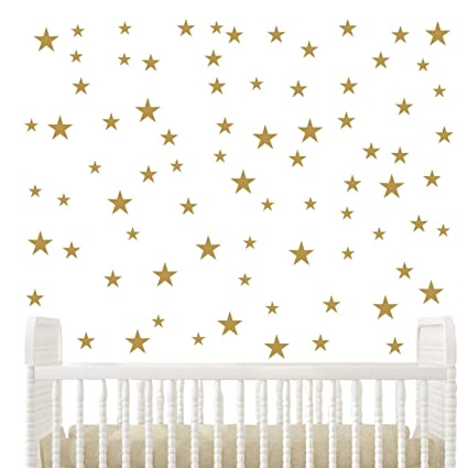 Multi Size Stars Pattern Diy Wall Stickers Removable Home Decoration