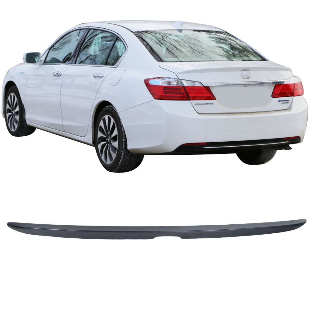 Pre-painted Trunk Spoiler Fits 2013-2016 Honda Accord  OE Style Painted #NH788P White Orchid Pearl ABS Trunk Boot Lip Spoiler Wing Deck Lid Other Color Available By IKON MOTORSPORTS   2014 2015