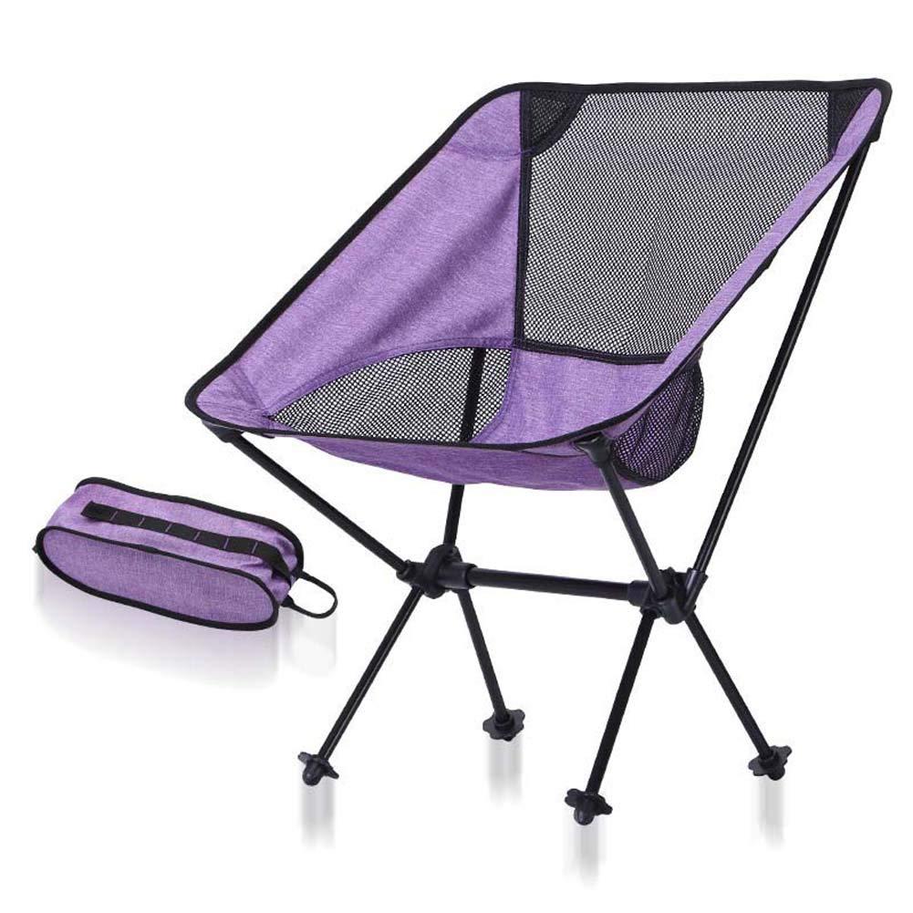 violet blancnet Llll-de plein air Tabouret de pêche Se Pliant léger avec Une capacité de Charge de 150Kg, Support Stable et Ferme pour Un Pliage Facile.