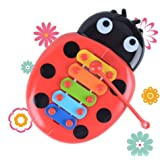 evelove Kids Ladybird Knock On Piano Keyboard Early Education Musical Instrument T Pianos & Keyboards