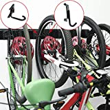 Bike Rack Garage Storage 5 Bicycles Hooks Wall