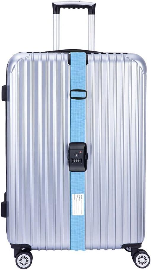 Codice di Sicurezza a 3 Cifre BlueCosto Rosso Regolabile Cinghie per valigie Bagagli con TSA