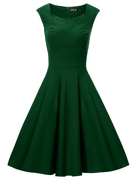 Gigileer - Vestido de algodón para mujer, estilo vintage, años