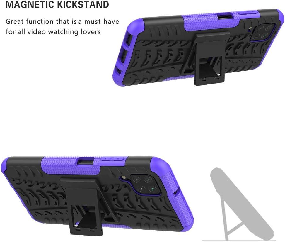 LiuShan Compatible con P40 Lite Case//Nova 6 SE Funda,Heavy Duty Silicona H/íbrida Rugged Armor Soporte C/áscara de Cubierta Protectora de Doble Capa Caso para Huawei P40 Lite//Nova 6 SE Smartphone,Negro