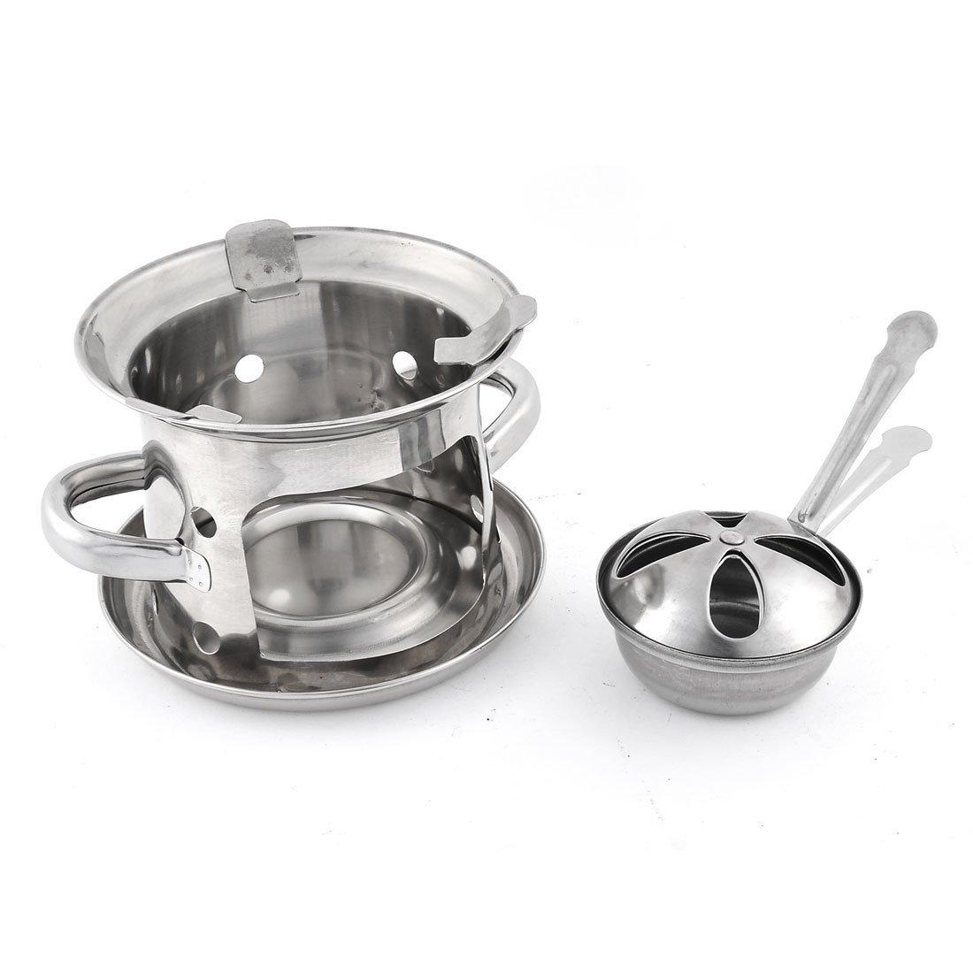 Amazon.com: eDealMax acero inoxidable de picnic al aire libre Senderismo Espíritu estufa de alcohol Quemadores tono de plata: Kitchen & Dining