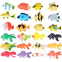 TOYANDONA 24pcs Sea Animals Models Sea Creatures Toy Ocean Animal Figurines Tropical Fish Toys for Toddlers Kids Birthday Gift