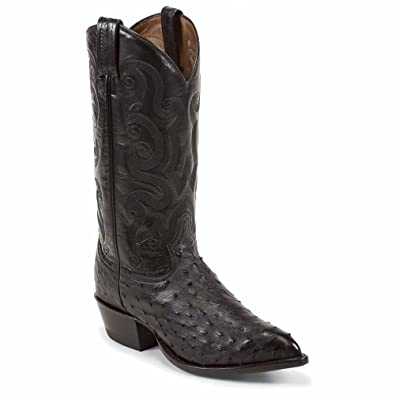 1b1dafa1114 Tony Lama CY885 Men's Exotic Ostrich Western Boots - Black