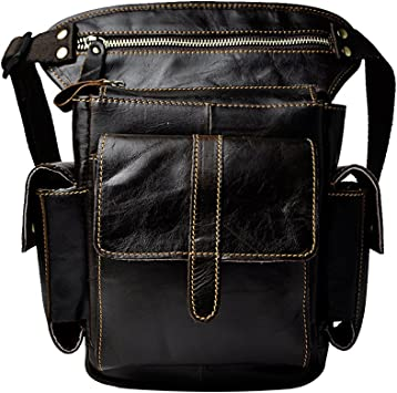 Genda 2Archer Fashion Leather Tactical Waist Pack Casual Travel Cycling Leg Bag: Amazon.es: Equipaje
