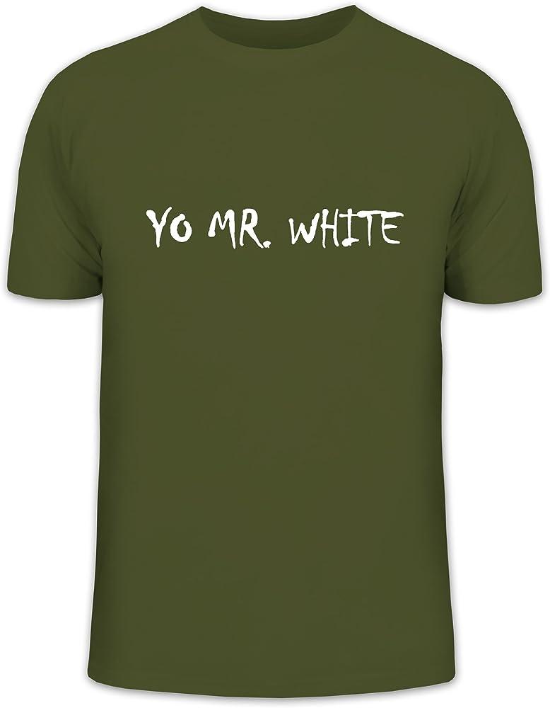 Camiseta street24, yo Mr. White, Heisenberg Breaking Bad Walter White FUN Camiseta verde oliva Medium: Amazon.es: Ropa y accesorios