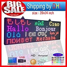 """Open Close LED SIGN 39""""X14"""" Programmable Scrolling Full Color Message Board Shipping by DHL"""