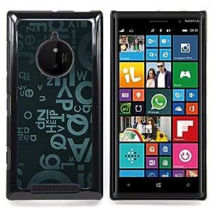 Eason Shop / Premium SLIM PC / Aliminium Casa Carcasa Funda Case Bandera Cover - Letras del alfabeto azul de Arte Moderno aleatoria - For Nokia Lumia 830