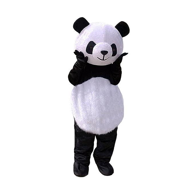 Amazon.com: Pelo largo oso panda disfraz de mascota gigante ...
