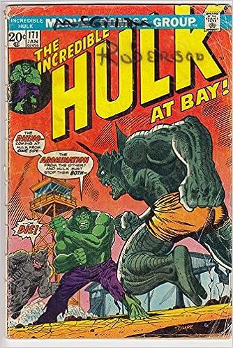 Amazon com: Incredible Hulk, v1 #171  Jan 1974 [Comic Book]: Books
