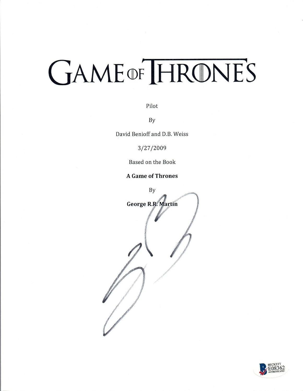 Sean Bean Signed Autograph Game of Thrones Pilot Script NED STARK Beckett COA Unbranded