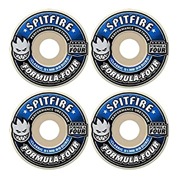 spitfire formula 4 wheels. spitfire formula 4 99d classic 52mm white w/blue skateboard wheels (set of u