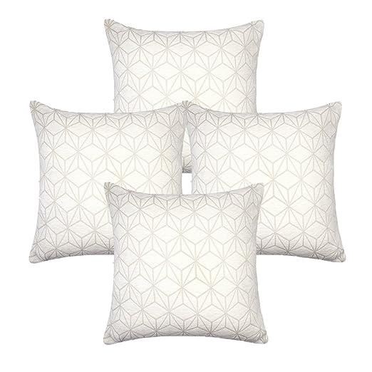 MRNIU cojines decoracion 50 x 50 Blanco fundas cojines cama cojines sofas fundas de cojin Funda de Almohada de Decoración Para el Hogar Dormitorio ...