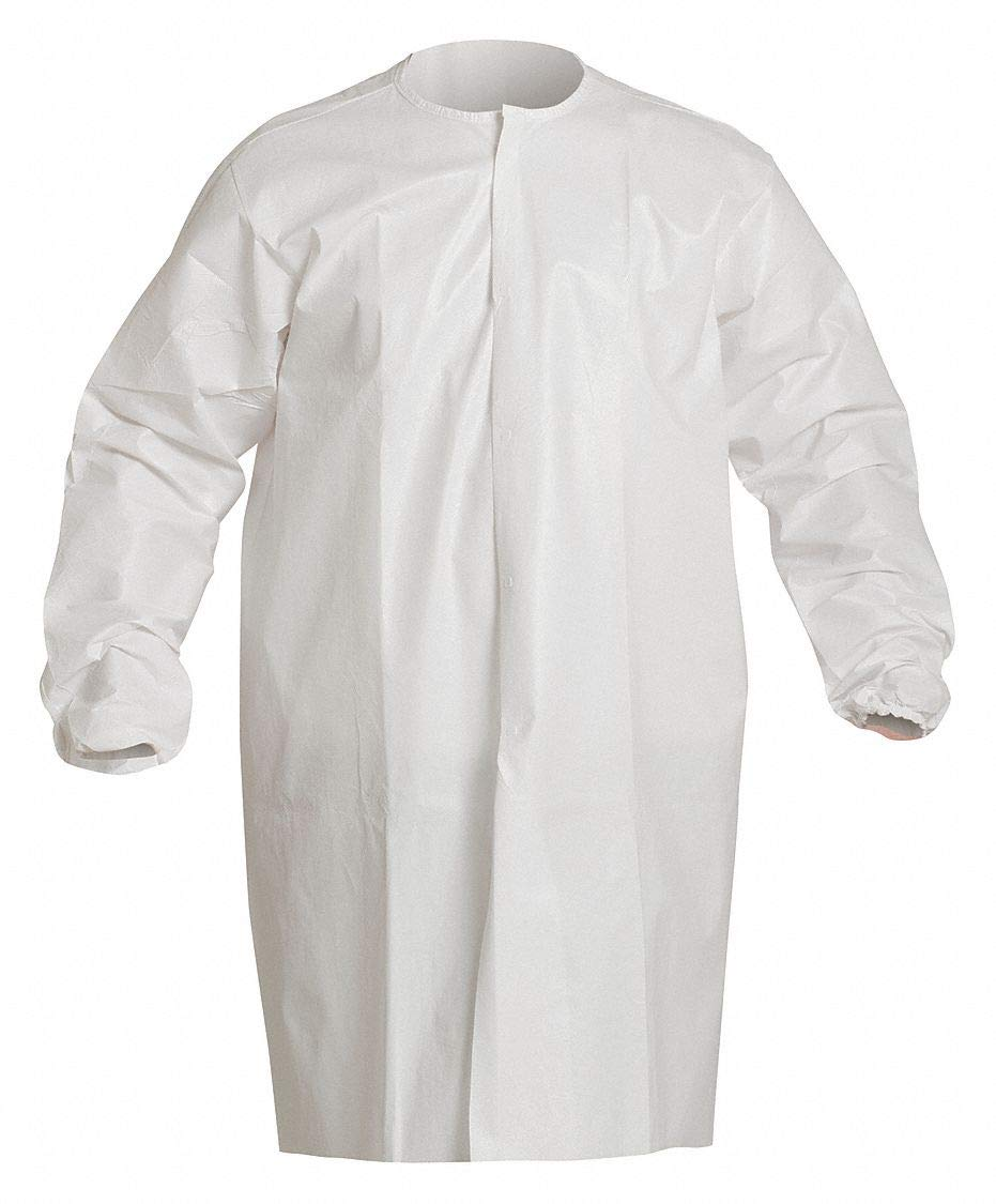Dupont Personal Protection Dupont Disposable Frock, 2XL, White, PK30 2XL Proclean(R) White PC270SWH2X00300B